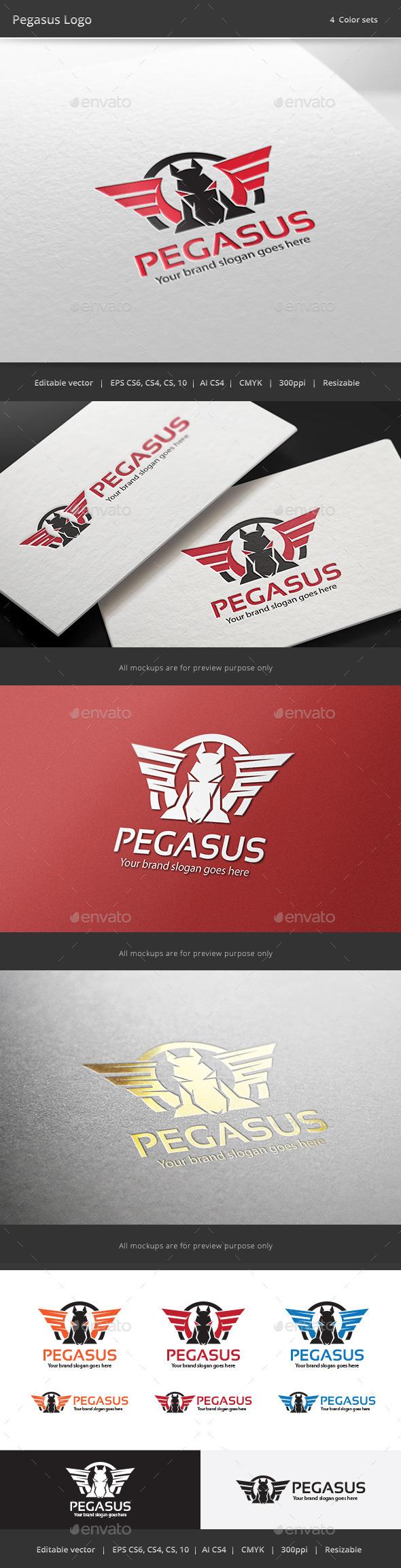 GraphicRiver Pegasus Brand Logo 9456017