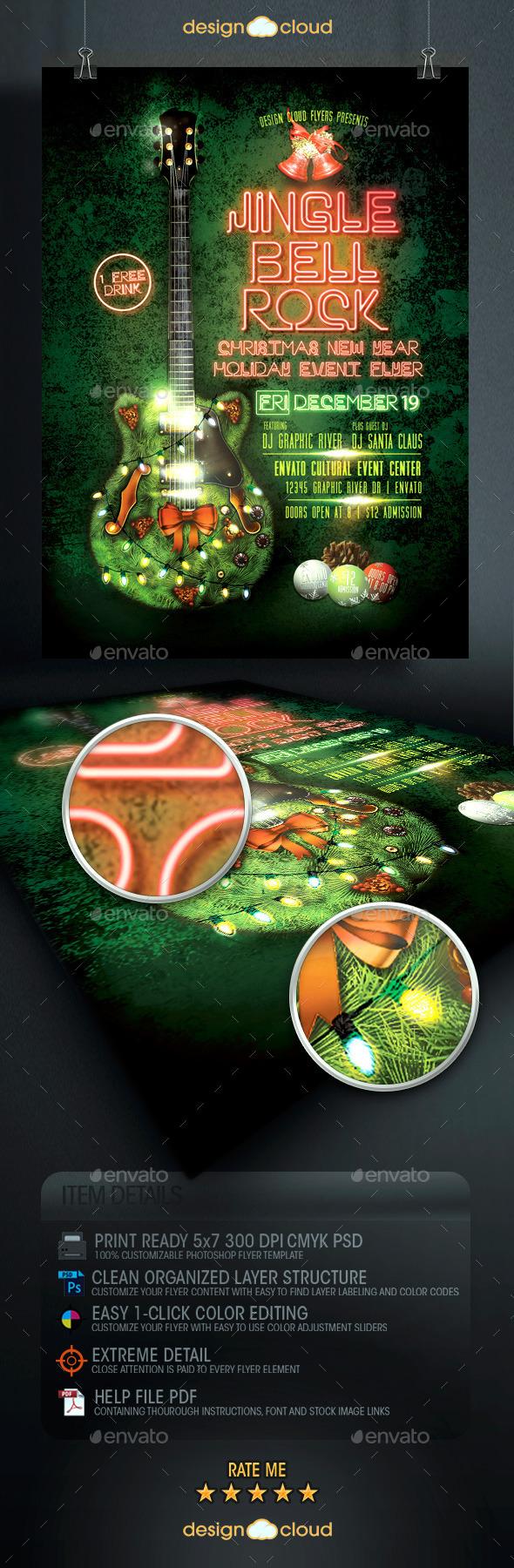 GraphicRiver Jingle Bell Rock Christmas Flyer Template 9456021