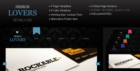 Design Lovers - Html/CSS Template