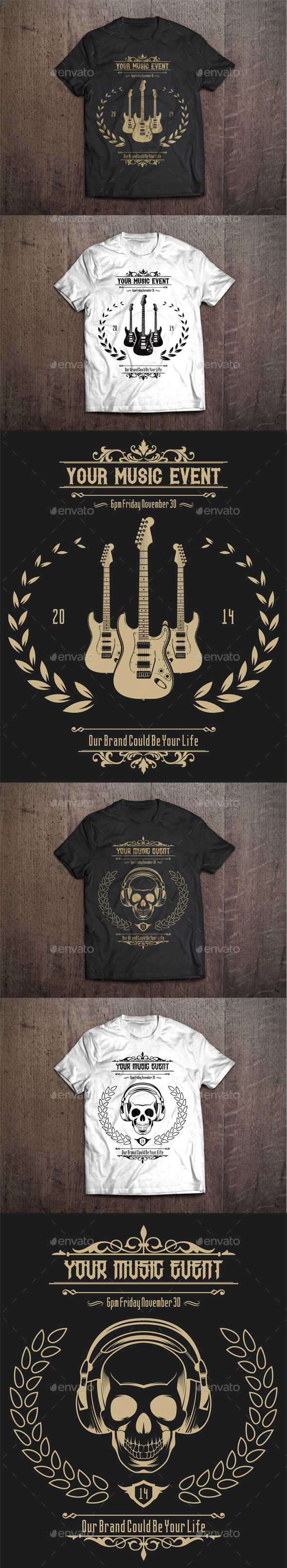 GraphicRiver 2 T-Shirt Template #2 9456032