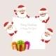 Set of Cartoon Santa Clauses - GraphicRiver Item for Sale