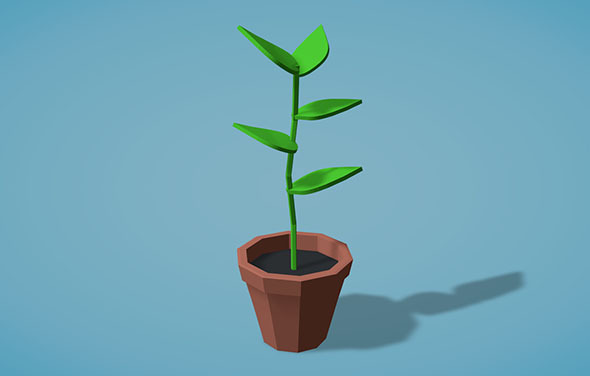 3DOcean Low Poly Plant 9456181