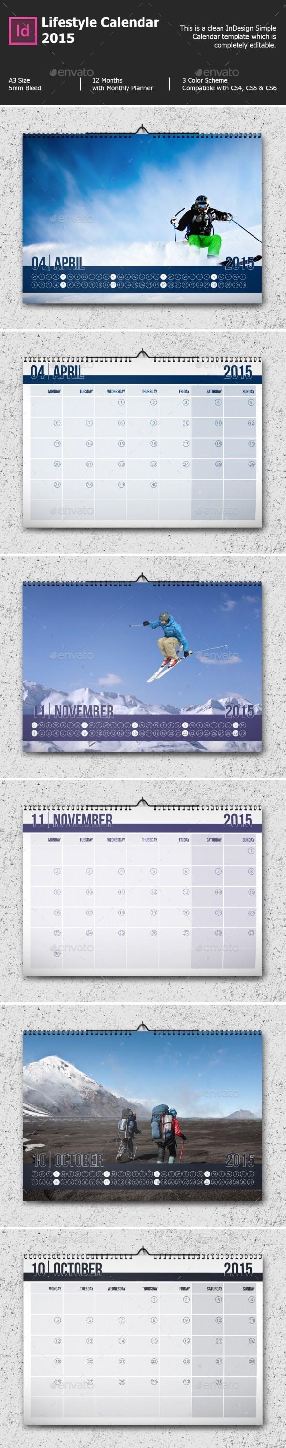 GraphicRiver Lifestyle Calendar 2015 9456182