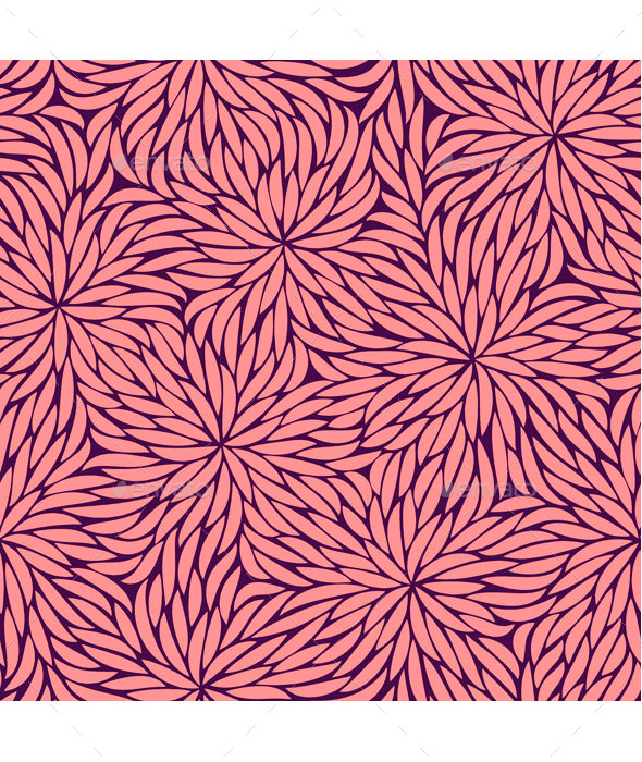 GraphicRiver Abstract Pink Flowers Seamless Pattern 9456214