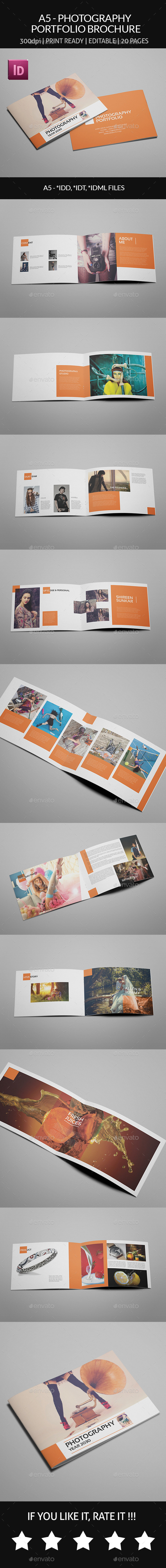 GraphicRiver A5 Photography Portfolio 9456225
