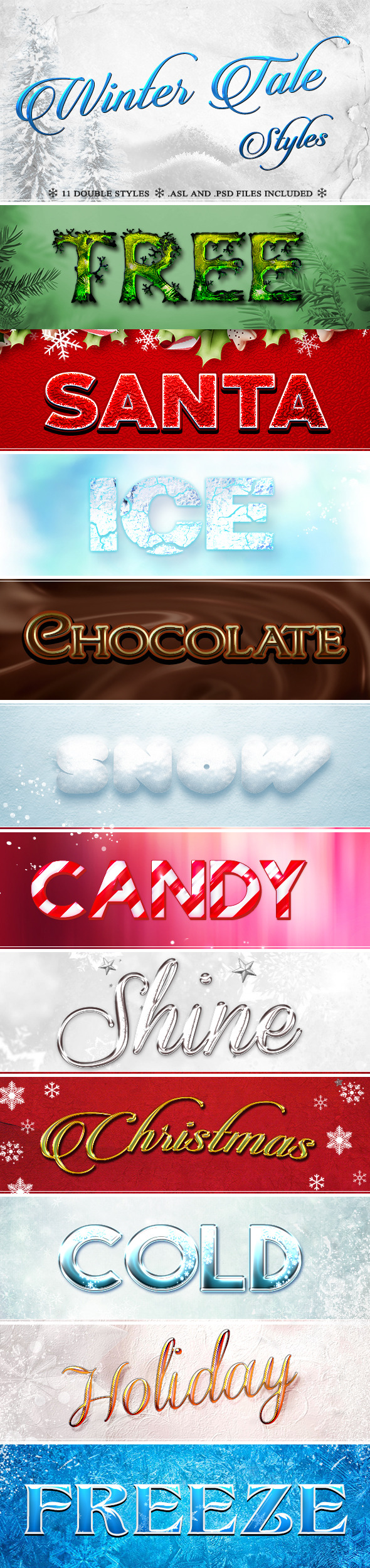 GraphicRiver Winter Tale Styles 9456308