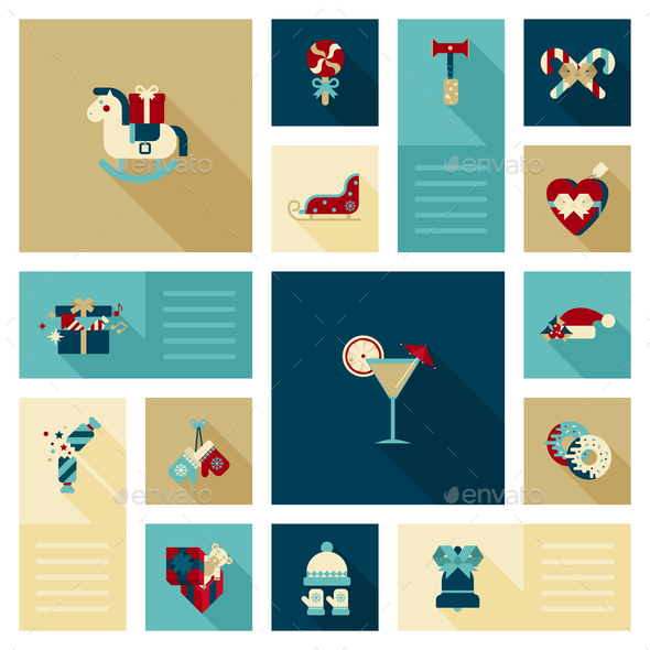 GraphicRiver Winter Holidays Icons 9456323