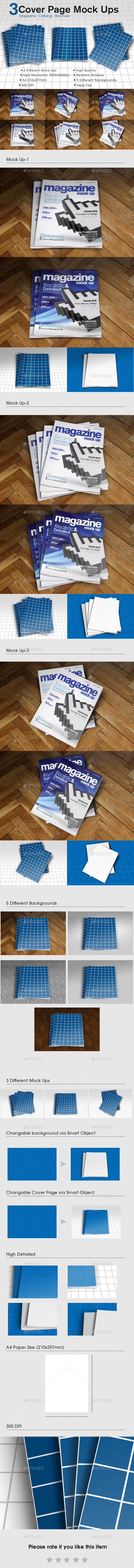 A4 Magazine Catalog Mock Up