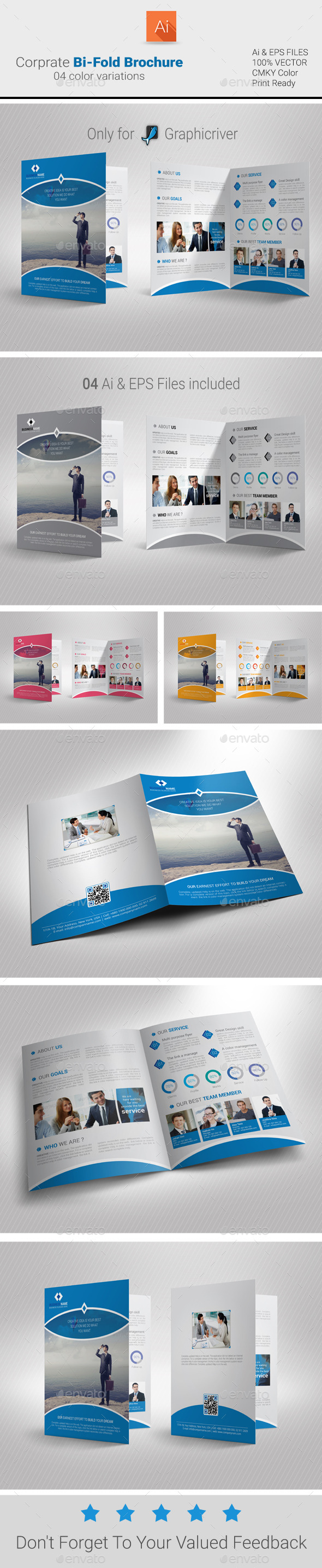 GraphicRiver Corporate Bi-Fold Brochure 9456640