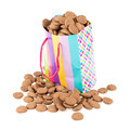 Colorful bag filled with ginger nuts over white - PhotoDune Item for Sale