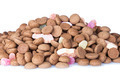 Heap of Dutch ginger nuts and sweets isolated over white - PhotoDune Item for Sale