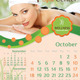 Yoga Wellness and Spa Calendar Template - GraphicRiver Item for Sale