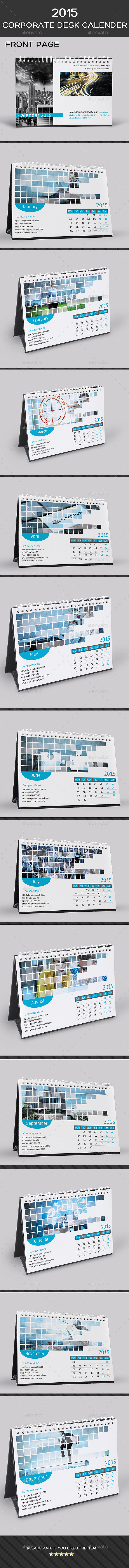 GraphicRiver 2015 Corporate Desk Calendar Template PSD 9456836