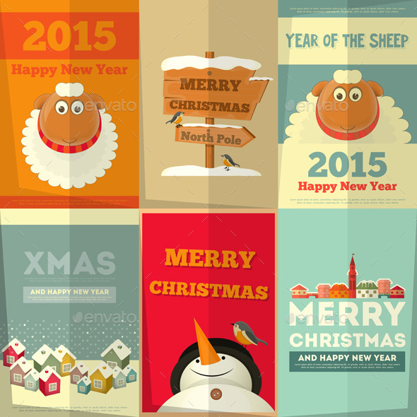 GraphicRiver New Year Cards 9456860