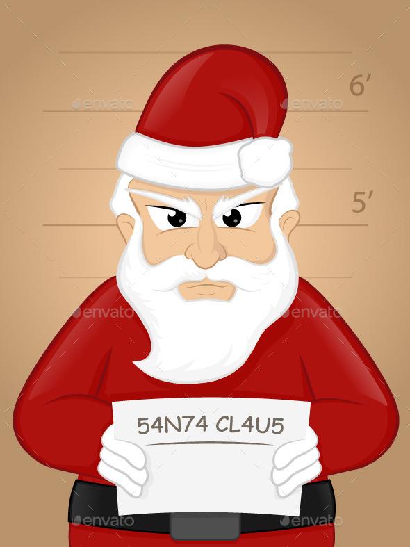 GraphicRiver Santa Mugshot 9456866