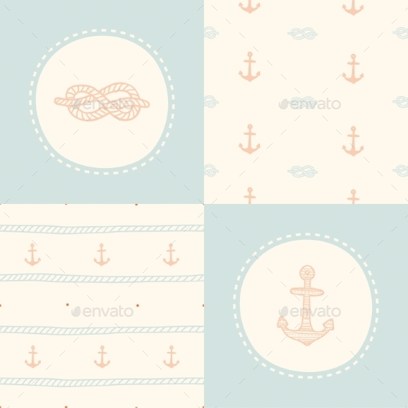 GraphicRiver Retro Anchor Pattern Set 9456962