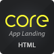 Core - Mobile App Landing HTML Theme - ThemeForest Item for Sale