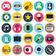 Video and Audio Flat Icons - GraphicRiver Item for Sale