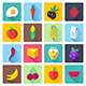 Fruit and Vegetables Flat Icons - GraphicRiver Item for Sale