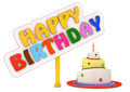 Happy Birthday multicolor words and pie - PhotoDune Item for Sale