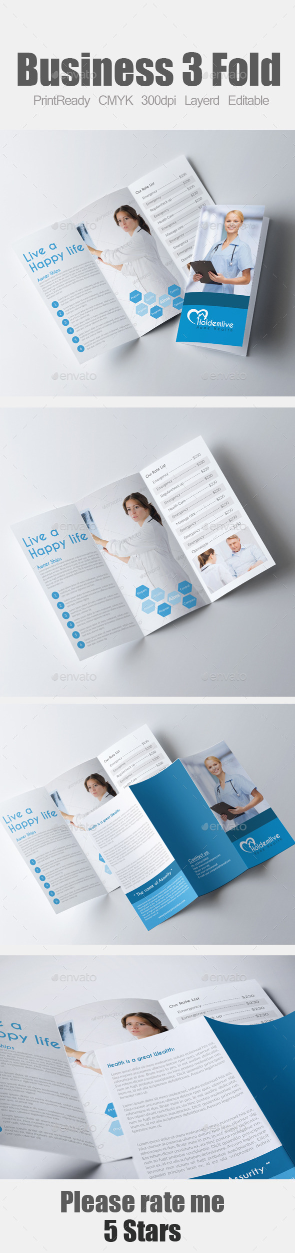 GraphicRiver Medical Tri Fold Brochure 9337483