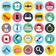 Retail and Shopping Flat Icons - GraphicRiver Item for Sale