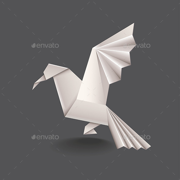 GraphicRiver Origami Bird 9457363
