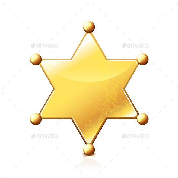 GraphicRiver Sheriff Star 9457377