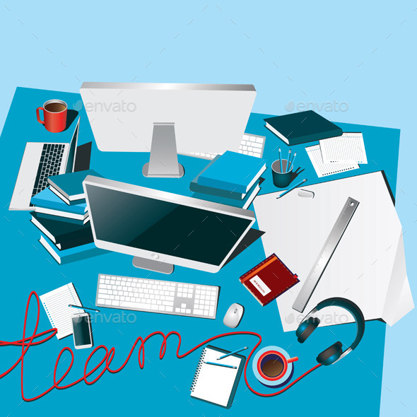 GraphicRiver Teamwork 9457399