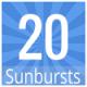 Sunburst Backgrounds (Flat Colors) x20 - GraphicRiver Item for Sale