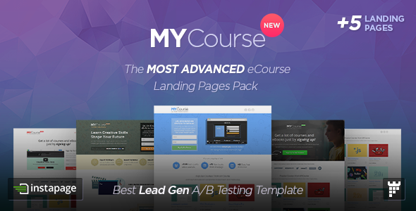 ThemeForest MYCourse Instapage eCourse Landing pages Pack 9435076