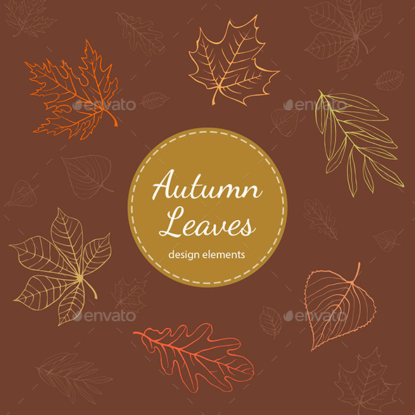 GraphicRiver Autumn Leaves Vector Design Elements 9457522
