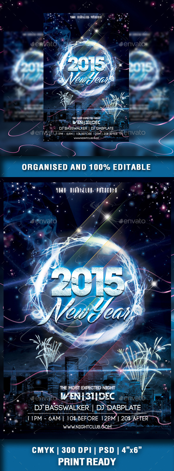 GraphicRiver New Year 2015 Party Flyer 9457550