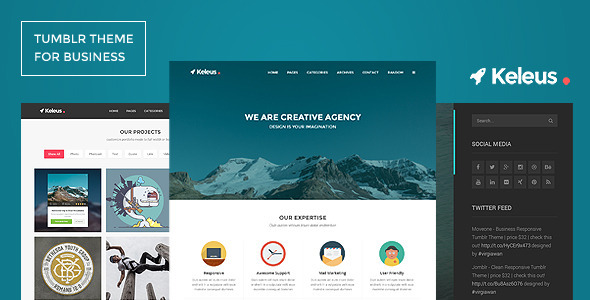 ThemeForest Keleus Responsive Tumblr Business Theme 9457762
