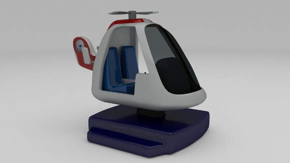 Ambulance Chopper Kiddie Ride - 3DOcean Item for Sale