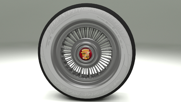 Cadillac Wheel - 3DOcean Item for Sale