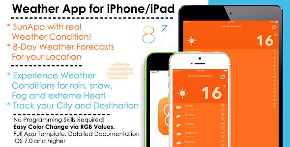 CodeCanyon SunApp Weather iOS Full App Template & AdMob 9457973
