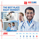 Medical or Dental Clinic Calendar Template - GraphicRiver Item for Sale
