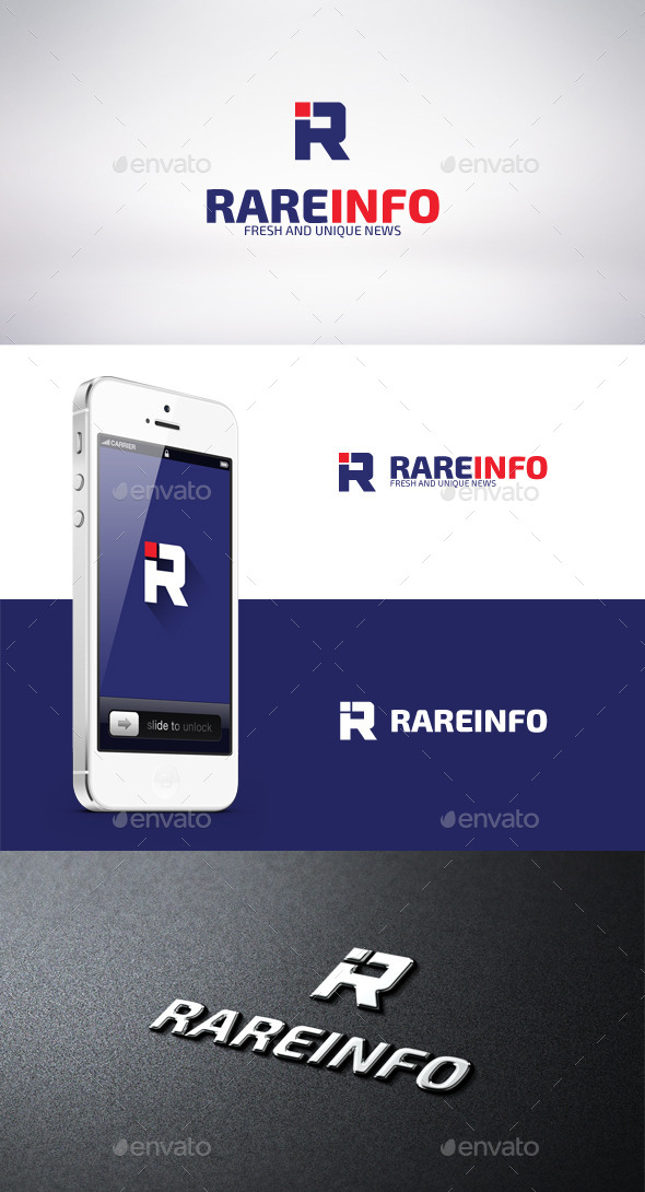 GraphicRiver Rare Info Logo Template 9458114