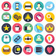 Social Media Flats Icon - GraphicRiver Item for Sale