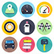 Road Trip Flat Icons - GraphicRiver Item for Sale