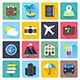 Travel and Vacation Flat Icons - GraphicRiver Item for Sale