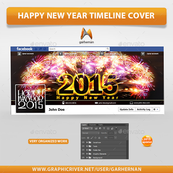 Happy New Year Timeline Cover