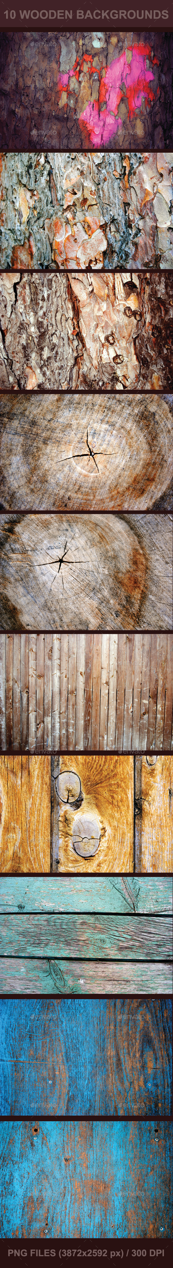 GraphicRiver 10 Wooden Backgrounds 9458221