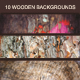 10 Wooden Backgrounds - GraphicRiver Item for Sale