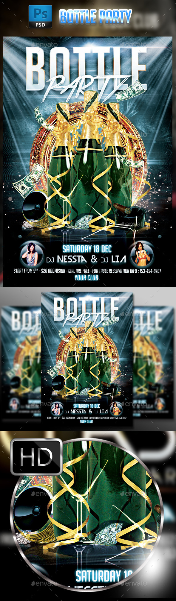 GraphicRiver Bottle Party 9412900