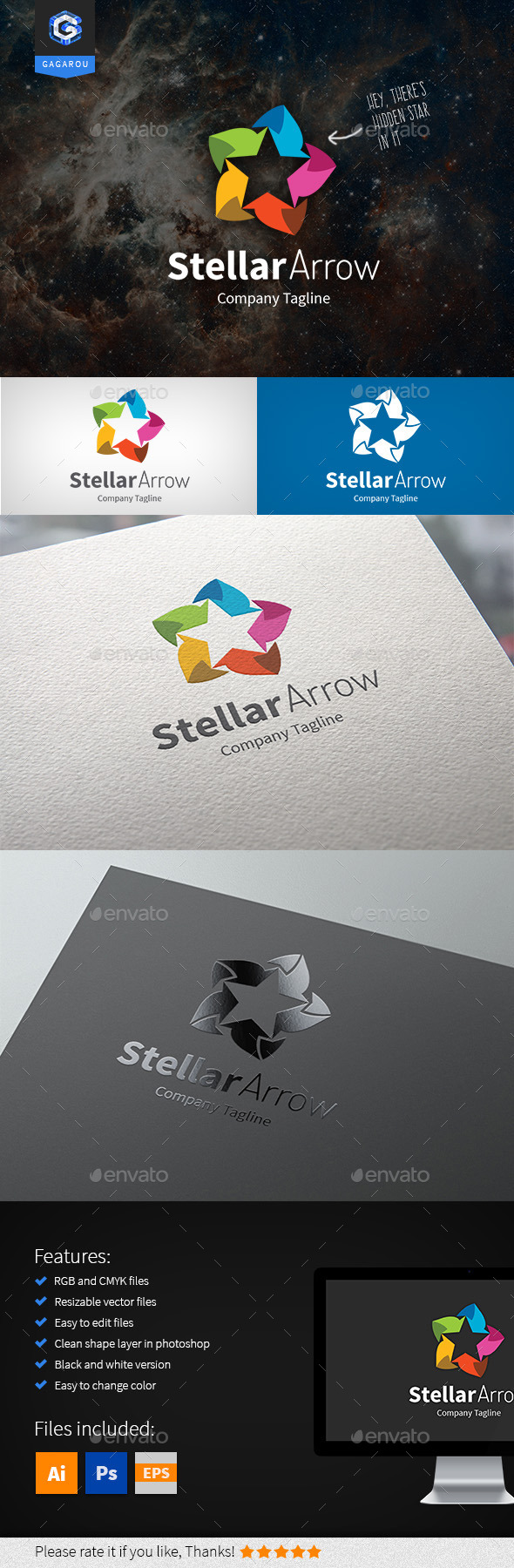 GraphicRiver Stellar Arrow Logo 9458532