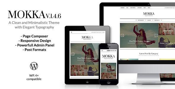 Mokka - Minimal & Elegant WordPress Blog Download