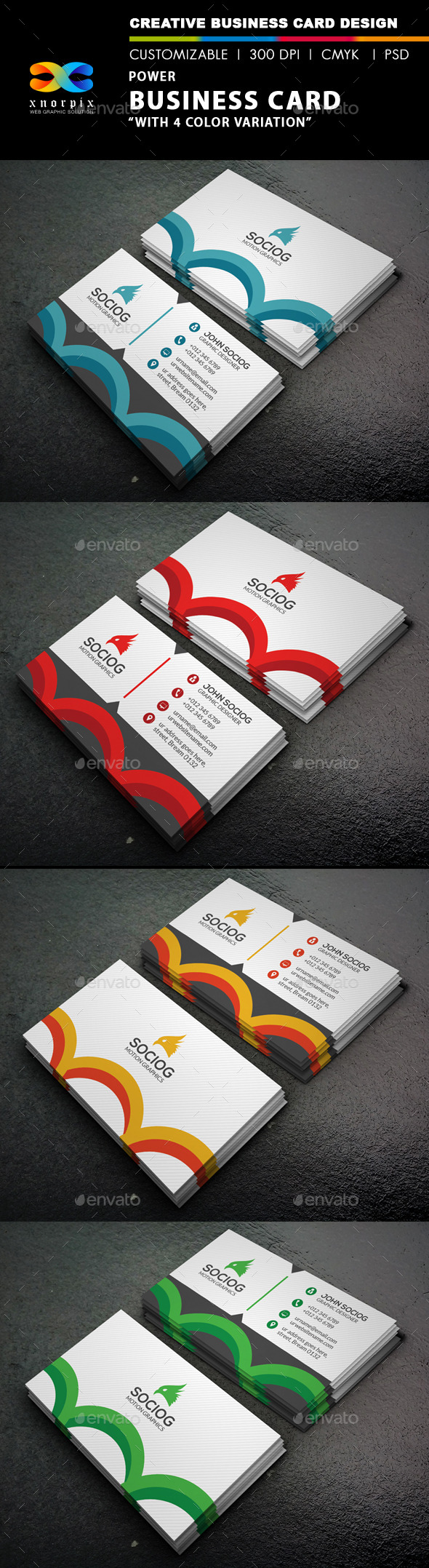 GraphicRiver Power Business Card 9458738