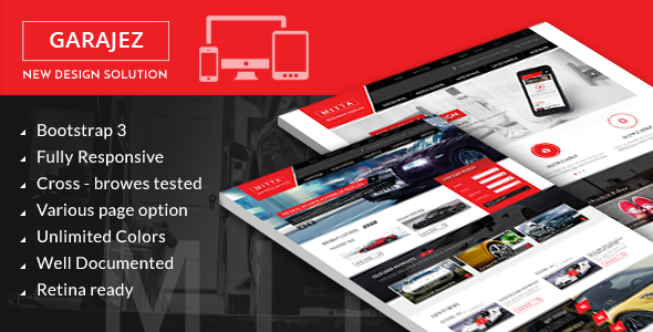 GARAJEZ professional multi-purpose HTML5 template